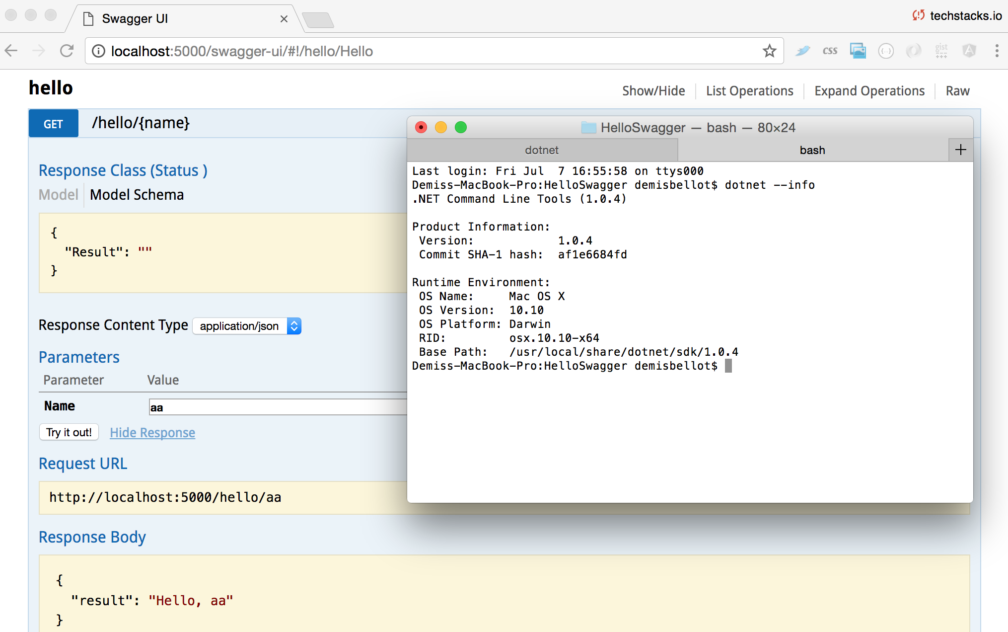 Default swagger UI to current instance - Swagger