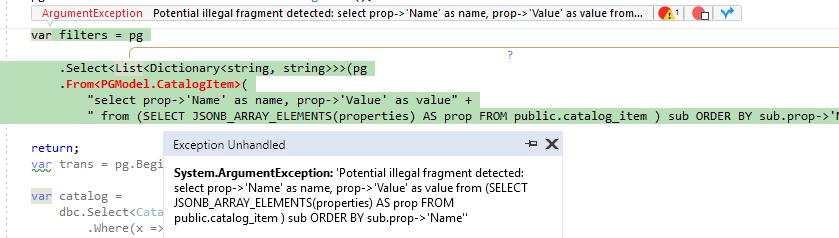 Postgres JSONB query - ServiceStack OrmLite - ServiceStack